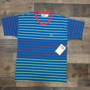 Lacoste Izod (Vintage) Striped Mens T Shirt Short